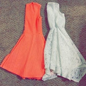 2 Girls size 6 lace tanktop dresses
